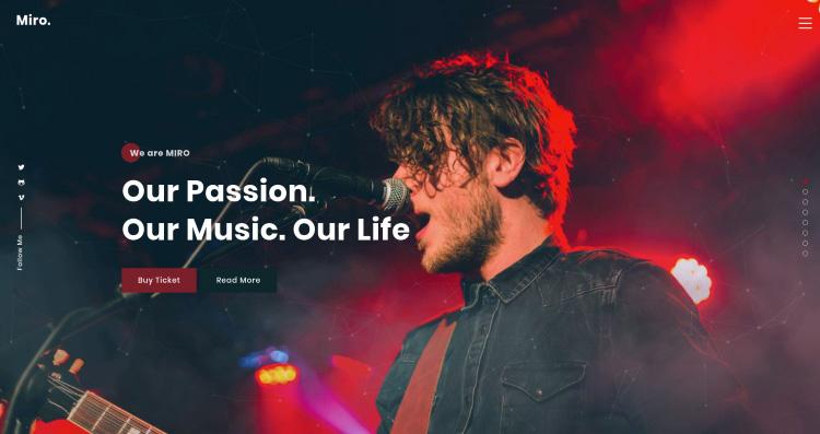 ReactJS Creative Personal Portfolio Template - Miro - 6